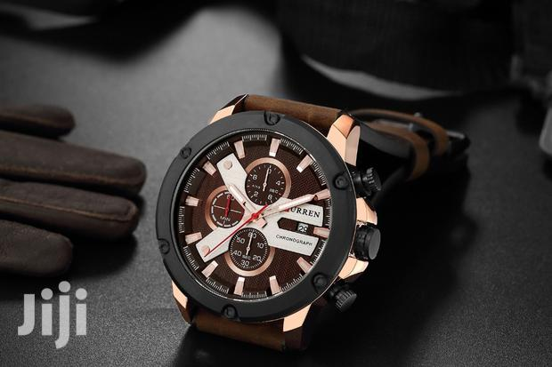Archive: Curren Chronograph Men's Leather Watch