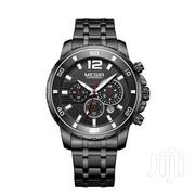 MEGIR 2068 Stainless Steel Black Chronograph Watch | Watches for sale in Greater Accra, Achimota