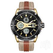 Fashion GOLDENHOUR Men Dual Time Display Canvas Nylon Band Watch | Watches for sale in Greater Accra, Achimota